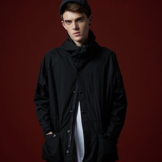 Stone'As Black Army Coat / Sleeves Edition classic black army jacket windbreaker jacket