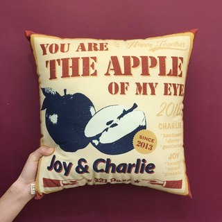 "【Fun Print】 customize ""You are the Apple of my eye"" Pillow"