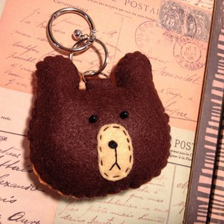 """Christmas presents"" chirp microphone key ring - Bear depression (light pressure may sound)"