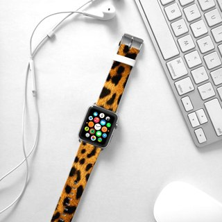 Apple Watch Series 1 , Series 2, Series 3 - Yellow Lepard Pattern Watch Strap Band for Apple Watch / Apple Watch Sport - 38 mm / 42 mm avilable