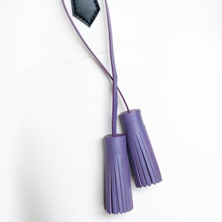 Patina Leather Handmade Leather Tassel Hanging Charm