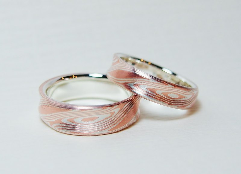 Element 47 Jewelry studio~ mokume gane ring 21 (silver/copper) (one ring )