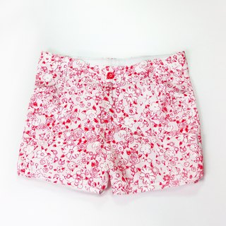 Pretty little white flower shorts