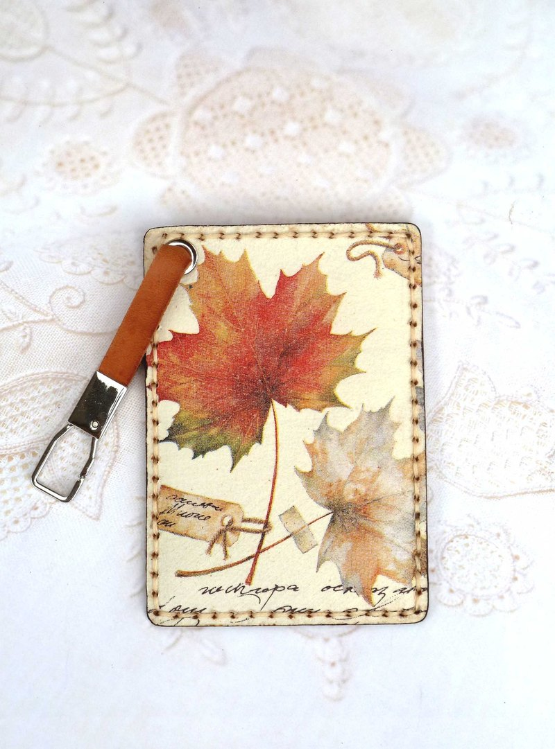 Autumn travel card sets / ticket holder / card holder