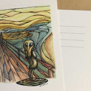 The Scream in Roswell - artwork available in Greeting Card