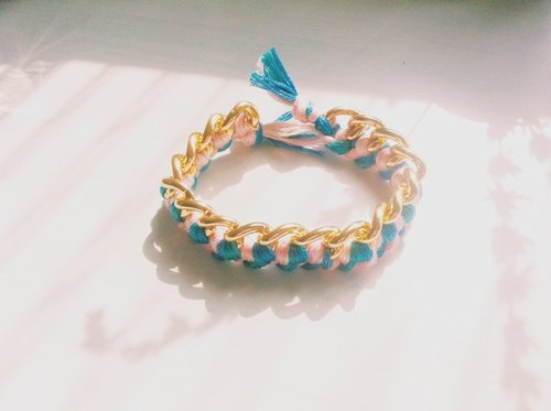 Handmade custom models ︱ blue is the warmest color lucky woven bracelet