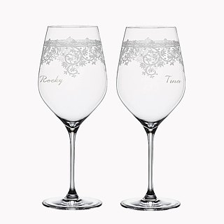 (One pair price) 230cc [custom wedding special for the German Cup 'SPIEGELAU Vintage Art platinum champagne glass crystal cup wedding gifts