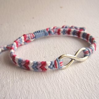 Infinitely colorful silver lucky rope woven bracelet (optional color)