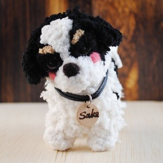 12cm pet cloned [feiwa Fei handmade baby doll pet St. Bernard] (welcome to build your dog)