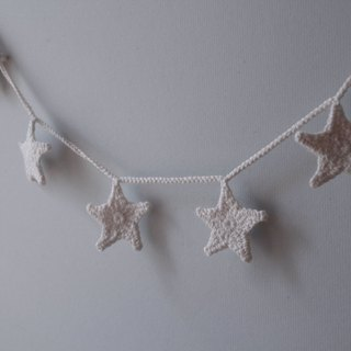Christmas decoration white hand hook star wall decoration