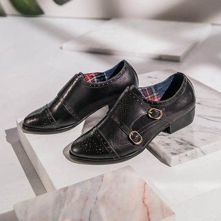 e cho retro gentry double buckle Munch shoes ec19 black