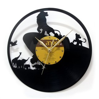 [Time traveler 1888] vinyl clock. The Lion King