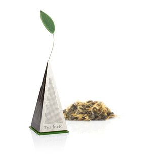 Tea Forte Pyramid Tea Bag Metal Tea Pyramid Icon Loose Tea Infuser