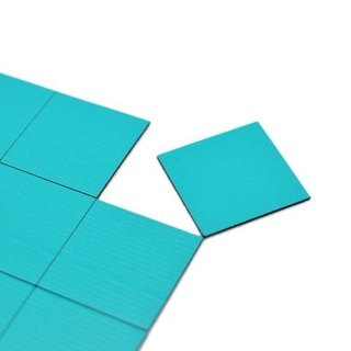 3+ magnet (collage) squares neon blue ‧