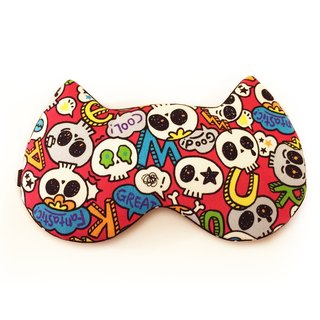 Skulls Party Sleep Mask - Red