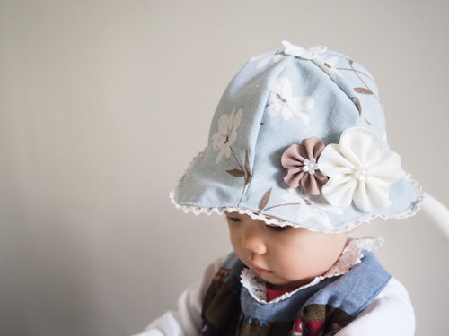 Handmade Hat/ bib/ hair clip and headband set