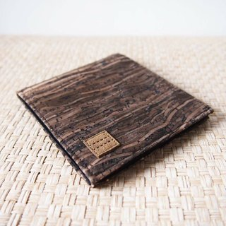 Paralife Custom Handmade Wooden Grain Cork Short Wallet / Clutch