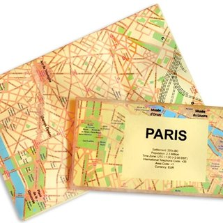 RocaMoss Wrinkle Resistant Waterproof Map - Paris
