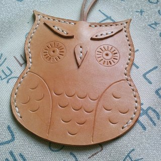 Hand-carved owl leather key cases / Spot