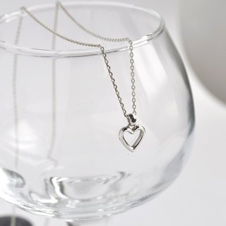 Tiny Heart Necklace,Sterling Silver