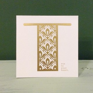 Bronzing letter card envelope sticker set -T