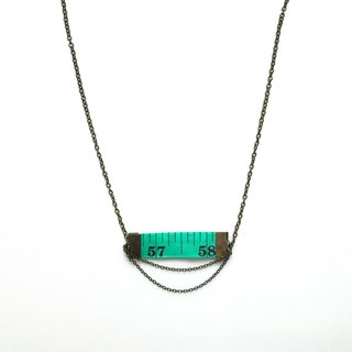 Inch Necklace| Tape measure Necklace | Green