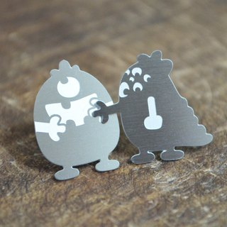 【Peej】'Don't Forget Me' Stainless Steel Earrings