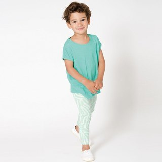 Nordic organic cotton children's soft top green