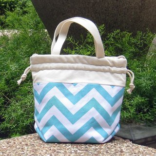 Silverbreeze ~ 3 in 1 hand bag / shoulder bag / cross body bag ~ Aqua chevron
