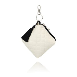 [European system] Lullalove mini bags, key cases, wallets - pure white