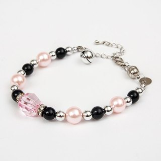 Ella Wang Design gem pearl necklace - pink cat collar pet collar necklace handmade fashion
