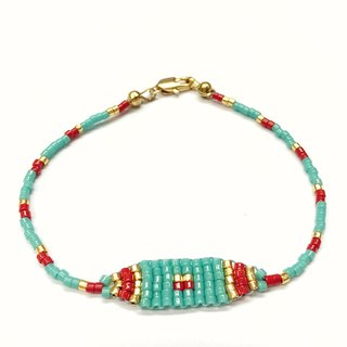 ololssim blue lake Ethnic Bracelet (0304)