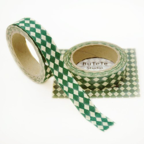 Cloth tape - geometric retro Lingge [green]