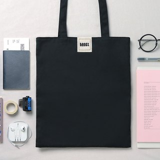 Invisible printed canvas bag / black
