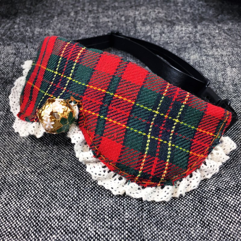 Scotland tie cat dog pet collar S size