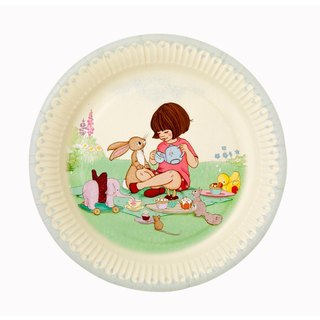 """Belle & wave § paper plate"" British Talking Tables Party Supplies"
