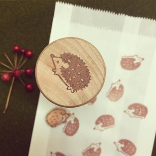 A hedgehog eraser stamp Hand stamp * * * Hand engraving by hand engraving * hourglass