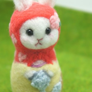 Wool felt playing hair ball cat Russian doll custom