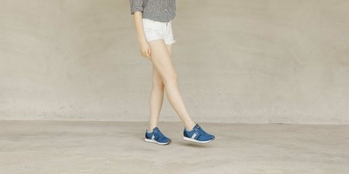 RETRO RUNNING SHOES  LAPIS LAZULI  ULTRASUEDE Eco-friendly shoes for WOMEN---Com