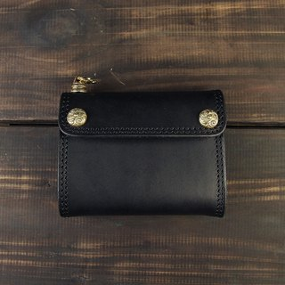 MT LIMITED EDITION- NO.004 Wallet carved buckle basic models short clip