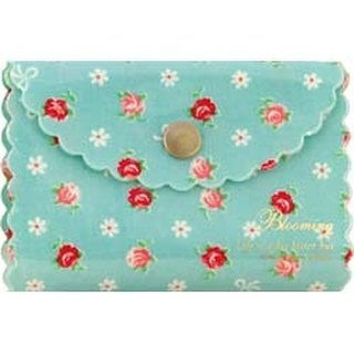 [Japanese] Frill LABCLIP series card storage folder (button) / Blue