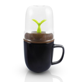 dipper 1 + + double cup group (black cup + coffee lid + green bean stir bar)