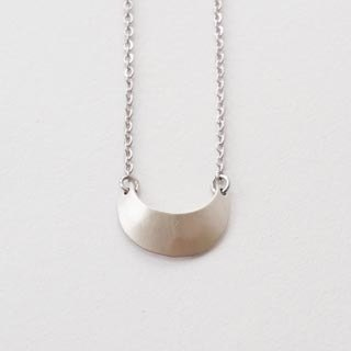 Water Moon silver necklace
