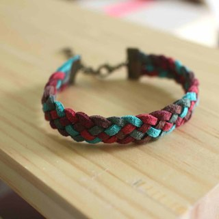 hand made bracelet-- korean synthetic leather【Wolf Song】
