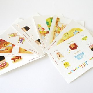 Color pencil postcard set