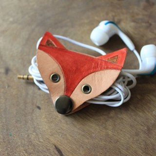 Cute fox leather headphone hub (holiday, birthday gifts)