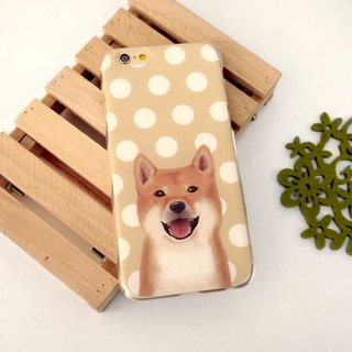 My Pets Dog Brown 1 Dots Print Soft / Hard Case for iPhone X,  iPhone 8,  iPhone 8 Plus,  iPhone 7 case, iPhone 7 Plus case, iPhone 6/6S, iPhone 6/6S Plus, Samsung Galaxy Note 7 case, Note 5 case, S7 Edge case, S7 case