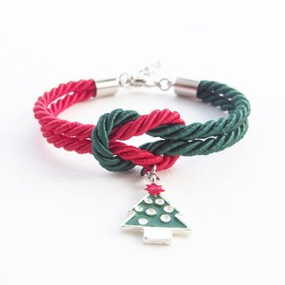 Christmas collection : red / green knot bracelet