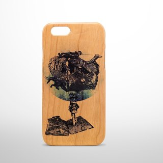 Wood feel i-phone 6 cherry Phone Case - Lonely Planet