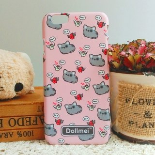 Dollmei iPhone 6 shell phone do not do it cute cat pink